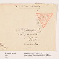 Erroll Pilkington Gillespie Letters